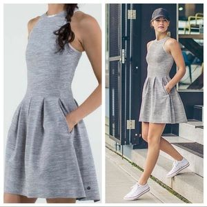 🦄RARE Lululemon Here To There Dress-Silver Spoon!